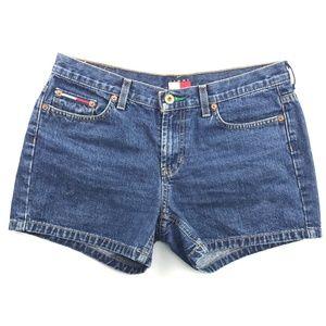 Vintage Tommy Hilfiger Big Flag Denim Shorts Sz 7